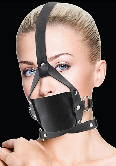 Кляп Leather Mouth Black OUCH!